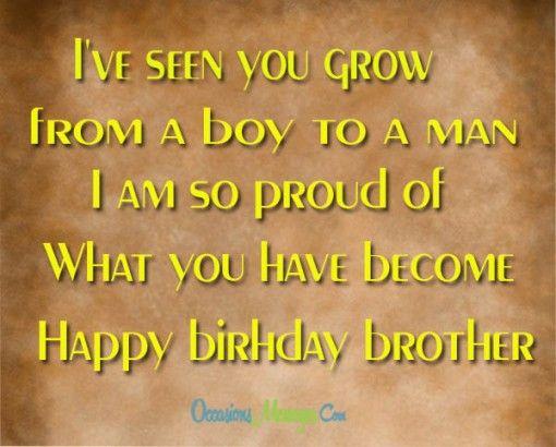 Best 25 Brother Birthday Message Ideas On Pinterest