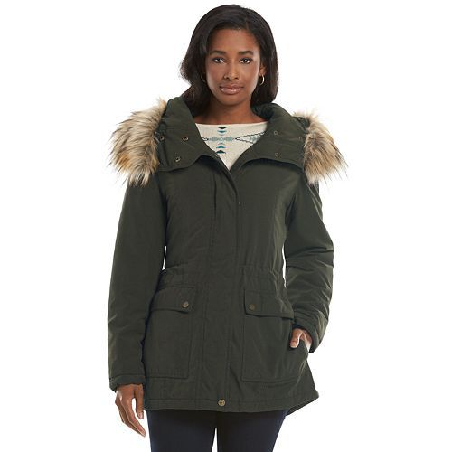 Chaps Hooded Anorak Jacket - Women's