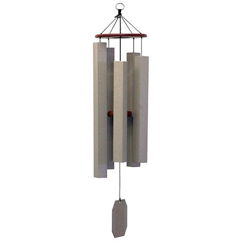 Alpine Whisper. Amish hand-crafted and hand-tuned. This contemporary wind chime blends in with modern décor, while evoking the peaceful beauty of a mountain stream.