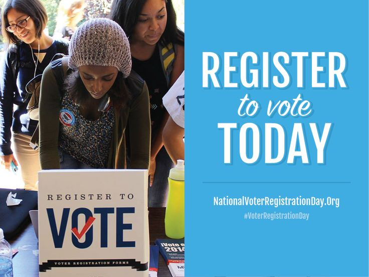 #VoterRegistrationDay ! Register to vote today!