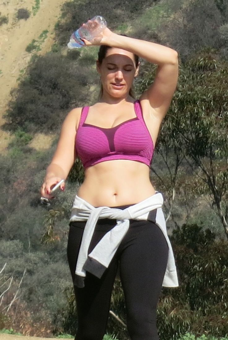 KELLY BROOK in Tight Top Out Hiking in West Hollywood