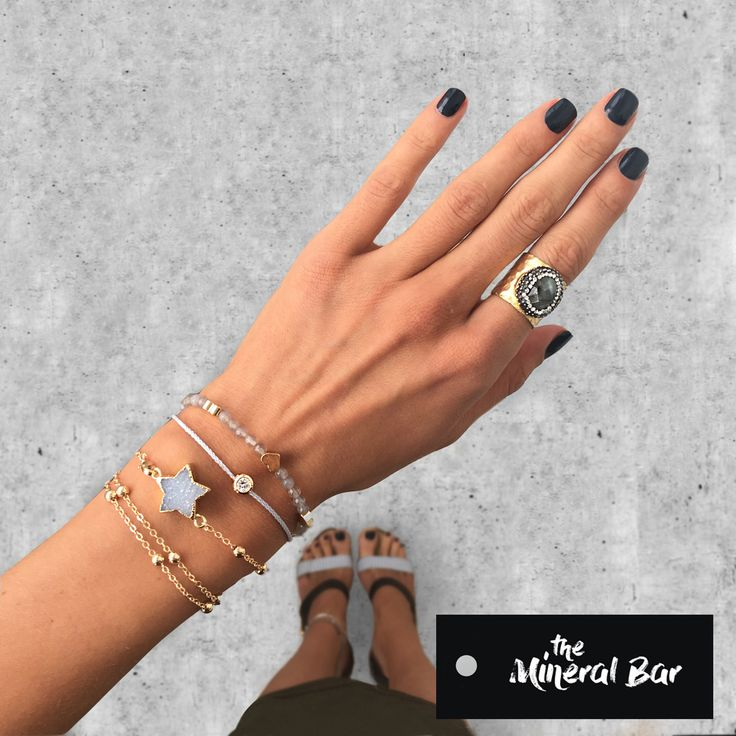 Designer jewelry @the_mineral_bar with natural stones.