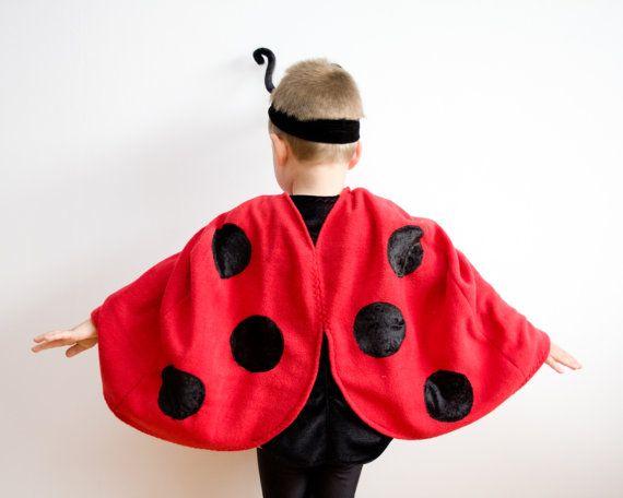 Ladybug Costume, Red Cape Costume, Ladybird Costume, Red Polar Fleece