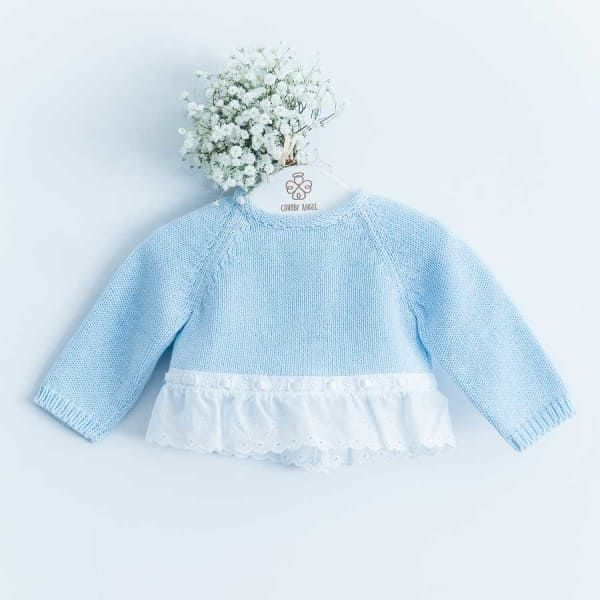 Blue Laced Sweatshirt | Chubby Angel
