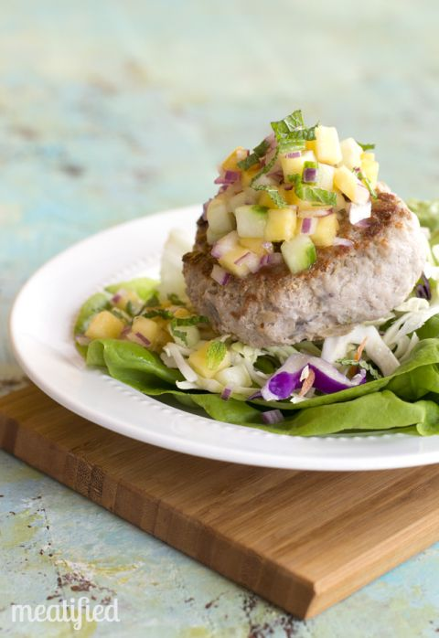 Pork Burgers with Pineapple Salsa  Paleo  AIP  amp  Whole30