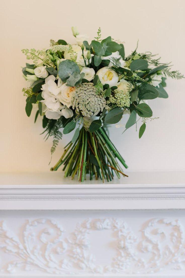 Lauren's Bridal Bouquet by Amie Bone Flowers #BotleysMansion #WeddingVenue #Surrey #BijouRealWedding #WeddingFlowers #Luxe #WeddingLuxe #LuxuryWedding #Flowers #Green