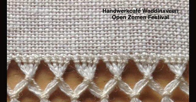 makkelijk          18 draden uittrekken, bundel de draden per 2 en 2 diep met open zoom steek. Bundel op 1/3 e  van onderen 2 b...