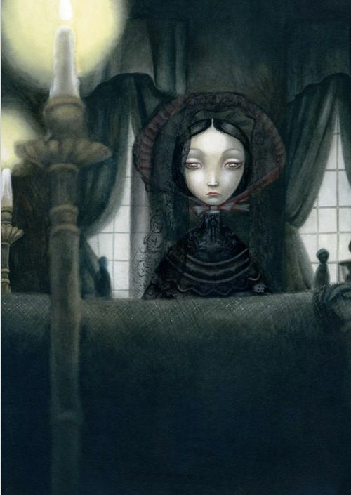 French Artist Benjamin Lacombe's Haunting Illustrations for Poe's Tales of the Macabre   Brain Pickings