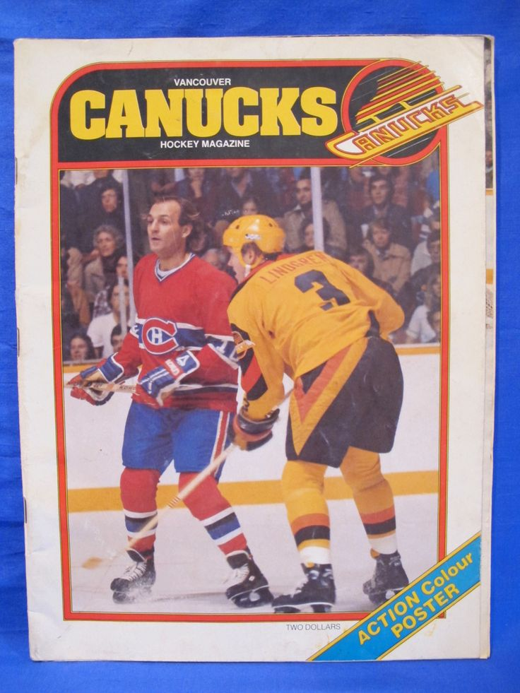 vintage vancouver canucks  | NHL Vancouver Canucks Hockey Magazine Vintage Collector ...