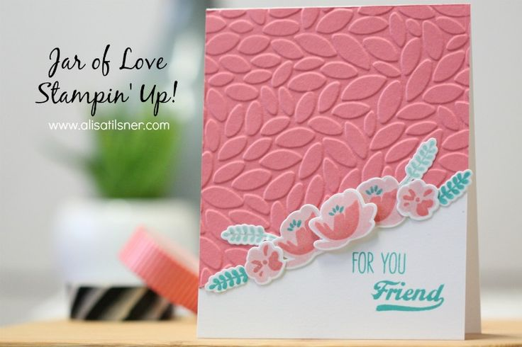 Simple, clean card using Stampin' Up!' Jar of Love Bundle. Add some Wink of…