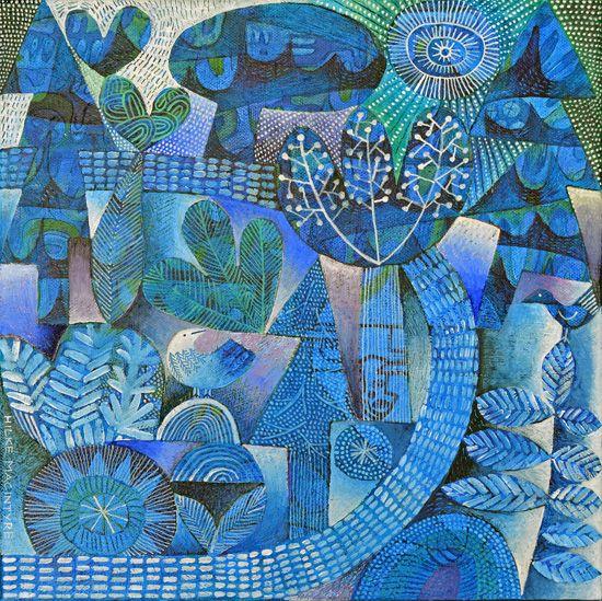 Scottish Contemporary Art | Ian and Hilke MacIntyre Sites > Hilke Macintyre > Paintings > p72 path through the woods
