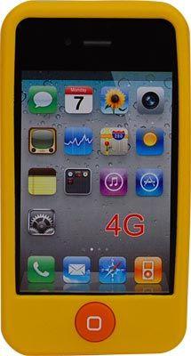 Funda Mooster trasera silicona iPhone 4 amarilla #ofertas #regalos #regalar #tienda #madrid #españa Visita http://www.blogtecnologia.es/producto/funda-mooster-trasera-silicona-iphone-4-amarilla