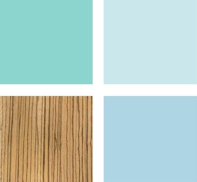 Морская цветовая схема для ванной