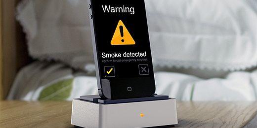Rauchmelder und CO-Melder für Smartphones