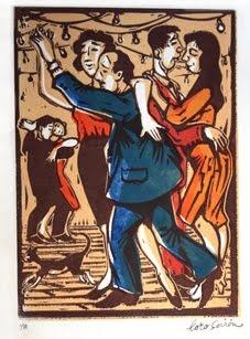 Título: Parejas bailando tango  Autor: Loro Coirón