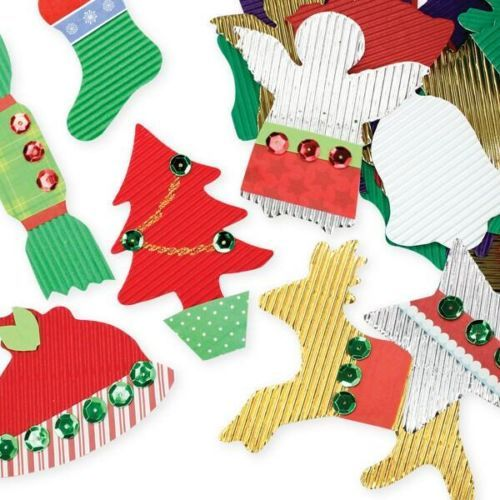 Corrugated Christmas Shapes - Pack of 5 - - - FREE DELIVERY ACROSS AUSTRALIA