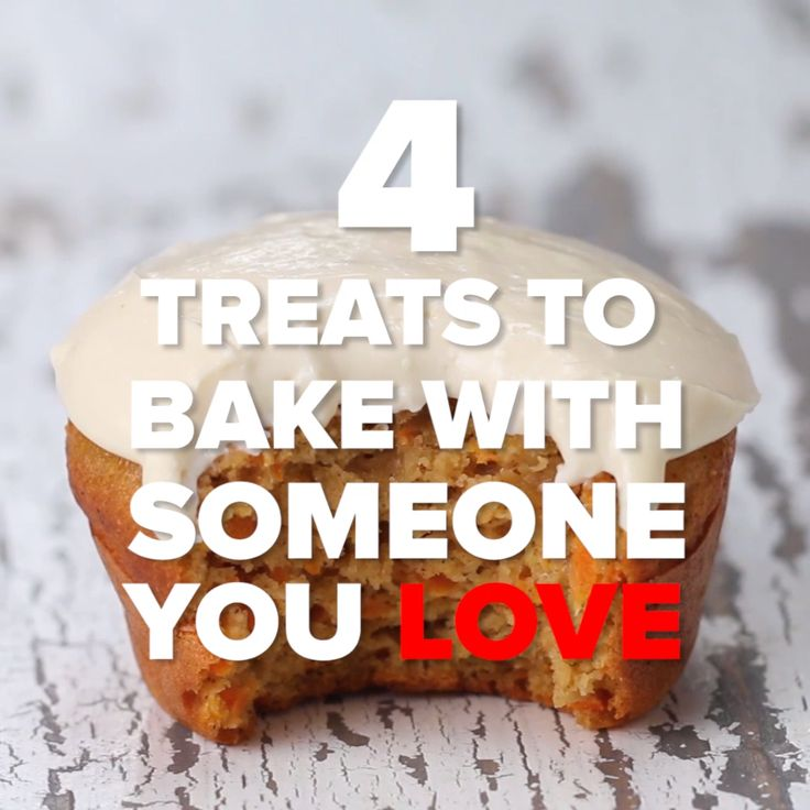 4 Treats To Bake With Someone You Love // #treats #baking #carrotcakemuffins #dessert