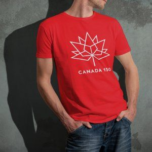 Would you like to show some True North Spirit? The Adam and Marky brand has been granted an official license holder of the Canada 150 logo from Heritage Canada. Show your spirit by celebrating the Canadian 150th with this awesome Canada 150 t-shirt!