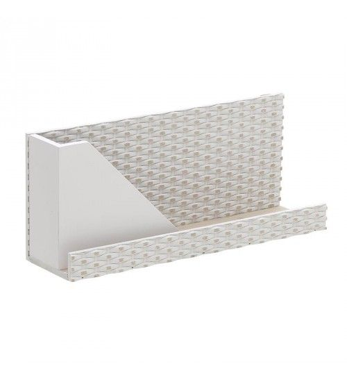 WOODEN WALL SHELF IN WHITE COLOR 40X11X18