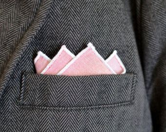 Popular items for pink pocket square on Etsy
