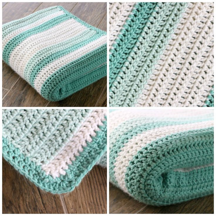 This is gorgeous afghan with random stripes, and it's all double crochet! A great beginner blanket or first project. There's a link to the random stripe generator in the post.༺