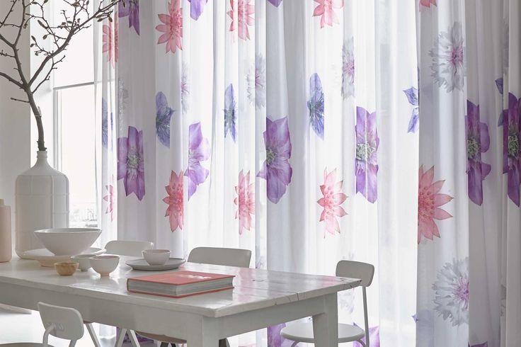 #inbetweens met bloem van Toppoint. #curtains #flower