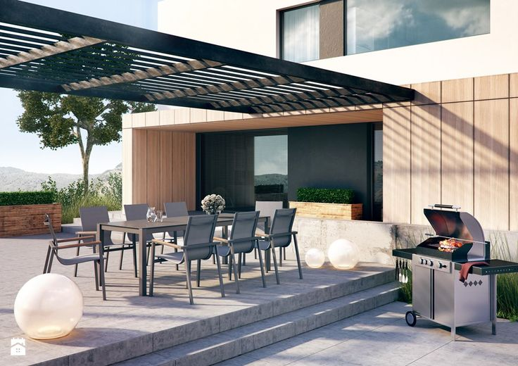 Taras - Zumm Garden Furniture - meble ogrodowe z aluminium, kamienia i drewna tekowego, nowoczesne meble ogrodowe, homebook, Homebook.pl