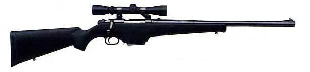 Mossberg 695 bolt action, magazine fed shotgun (slug-only) with rifled bore. - 'Debbie'
