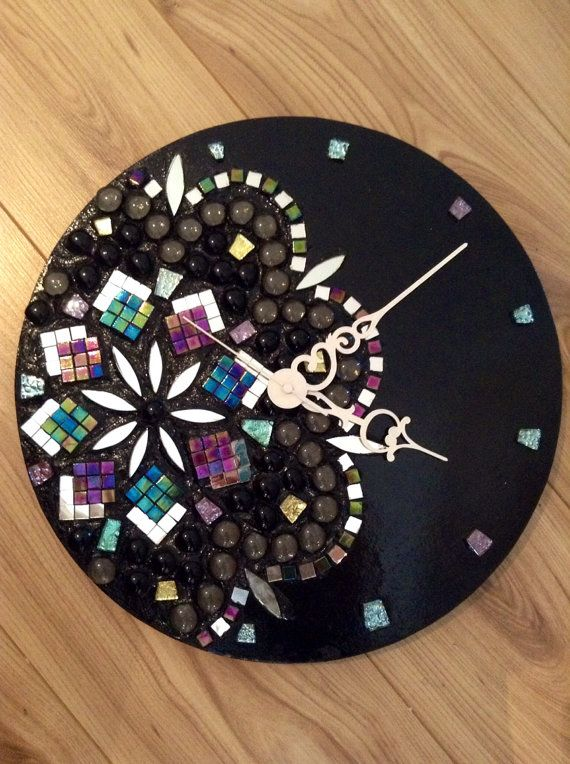 Handmade Mosaic Wall Clock On Etsy 93 62 Feelin Crafty