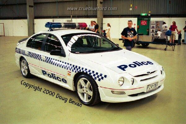 AU Police car at the 2000 Tickford Day – this car is actually a prototype owned by Fords but loaned to the Victoria Police (lo