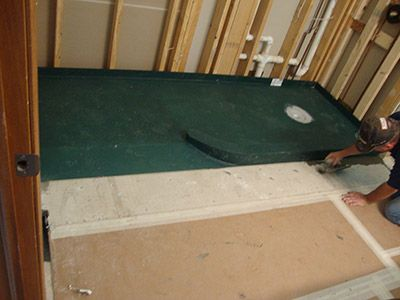This Pre Sloped Ready For Tile Shower Pan Has A Curved