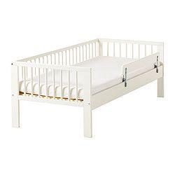 IKEA - GULLIVER, Struttura letto con base a doghe, , Legno massiccio: un materiale naturale resistente.La sponda evita che il tuo bambino cada dal letto.Base a doghe per una buona aerazione.