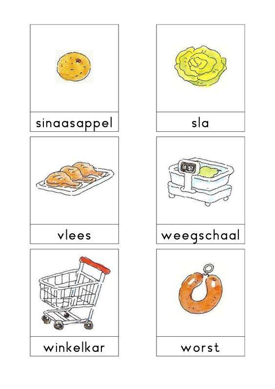 Afbeeldingsresultaat voor woordkaarten bas eten