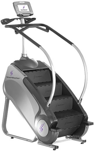 Favorite workout machine: Stairmaster. And by the way, I mean the kind pictured here, with escalator-like steps, not the pair of platforms that go up and down.