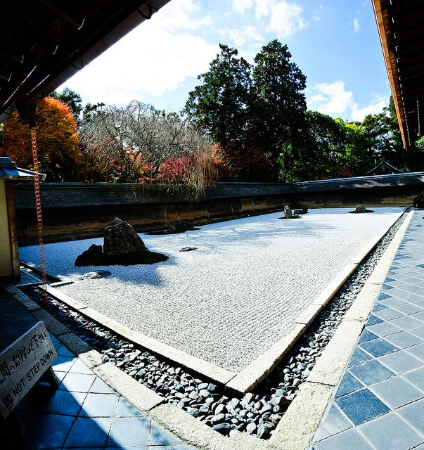 The site of the temple was an estate of the Fujiwara family in the 11th century. The first temple, the Daiju-in, and the still existing large pond were built in that century by Fujiwara Saneyoshi. In 1450, Hosokawa Katsumoto, another powerful warlord, acquired the land where the temple stood. He built his residence there, and founded a Zen temple, Ryōan-ji. During the Ōnin War between the clans, the temple was destroyed. Hosokawa Katsumoto died in 1473. In 1488, his son, rebuilt the temple.