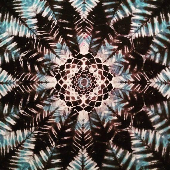 Dreamcatcher Mandala Black & White Tie Dye by BarefootLazerTieDye
