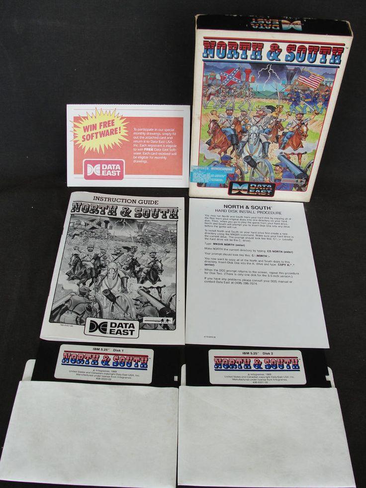 Vintage 1989 Data East IBM Game North & South Infogames Tandy Dos Game