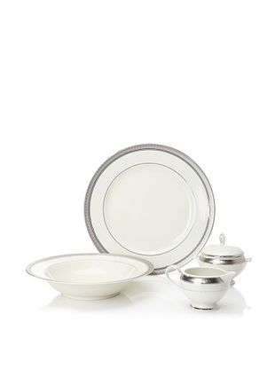 62% OFF Mikasa 5-Piece Palatial Platinum Serveware Set, Light Ivory