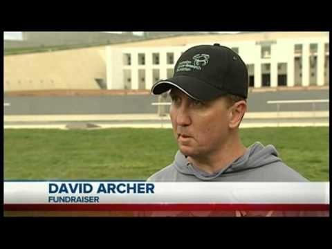 David Archer appeared on WIN News Canberra on the day he started his 400 Thousand Steps Walk.