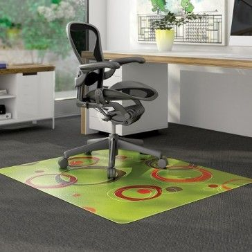 Protecting your low pile carpets will never be the same again – will not be dull, boring or unattractive when you have the Lime Contemporary Circles Chair Mats