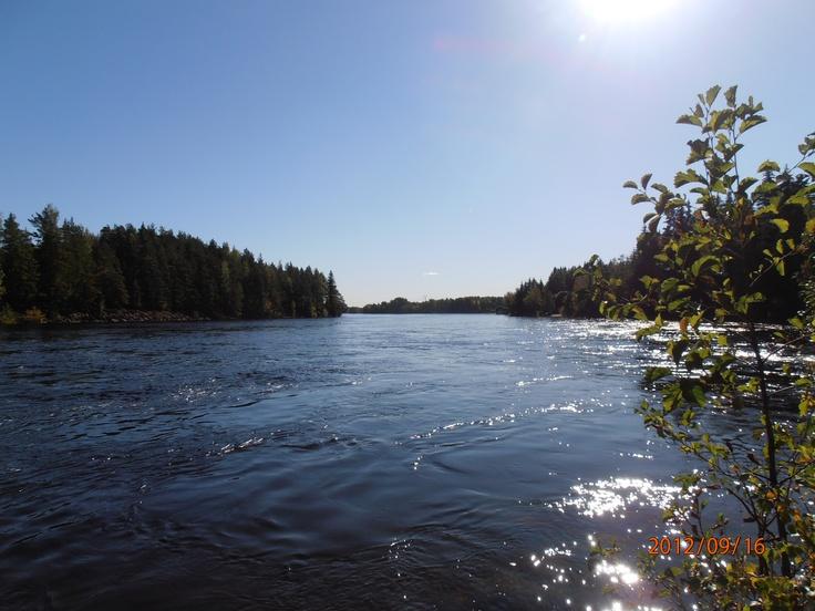 The river Vuoksi flows.