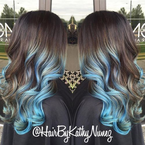 medium haircuts faces 25 best ideas about blue hair highlights on 5875