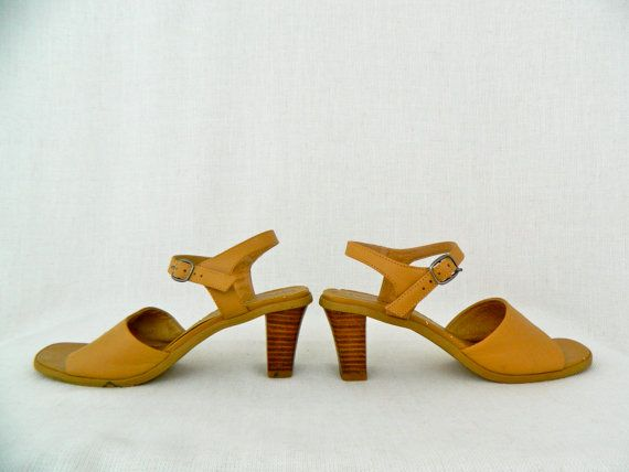 GLORIA . vintage women's strappy heels . two by ThePaisley5Vintage