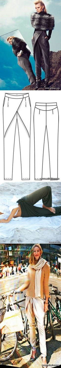 брюки, free pattern, женские брюки, pattern sewing, выкройка брюк, pants, брюки с запахом, pattern pants, выкройки скачать, шитье, готовые выкройки, раскрой одежды, выкройки бесплатно, Скачать