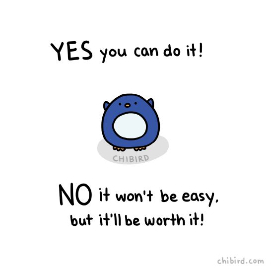 "chibird: ""Yes and no from a penguin who knows you can be great! """