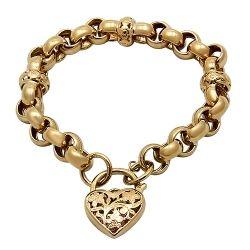 9ct Gold Belcher Padlock Bracelet