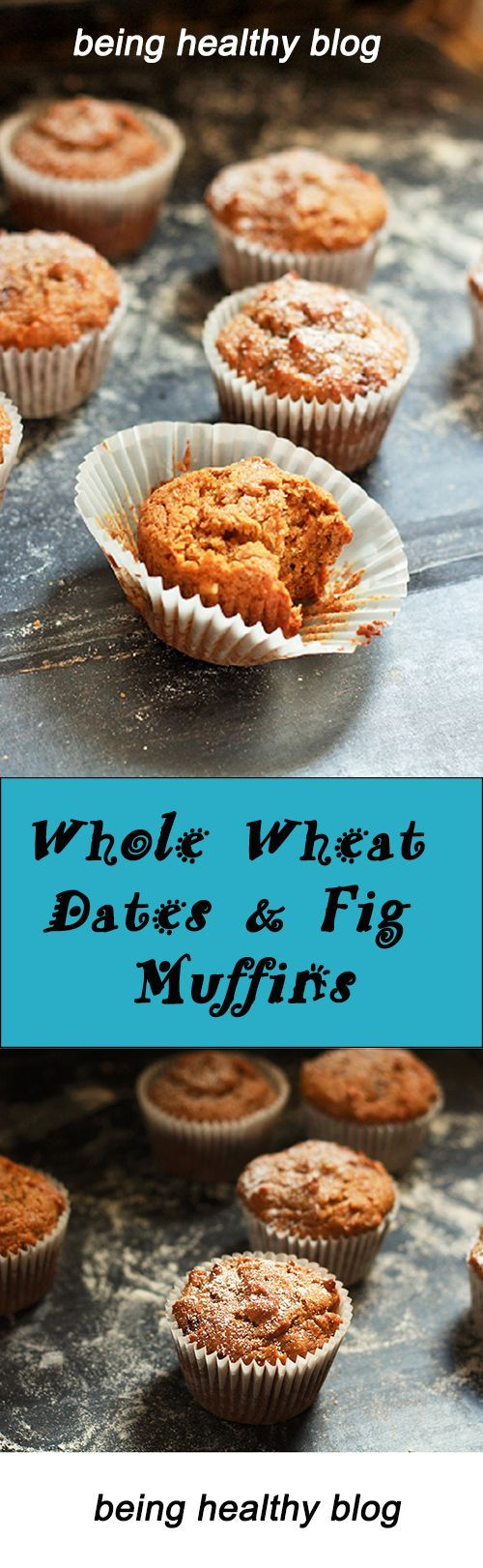 Whole Wheat Dates & Figs Muffins recipe. A delicious whole – wheat flour muffins and not to forget the dried fruits and nuts that would make a perfect Breakfast on the go