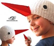 how to make a mask of a stork