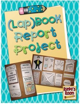 (Lap) Book Report Project - A fun project for students' independent reading books!