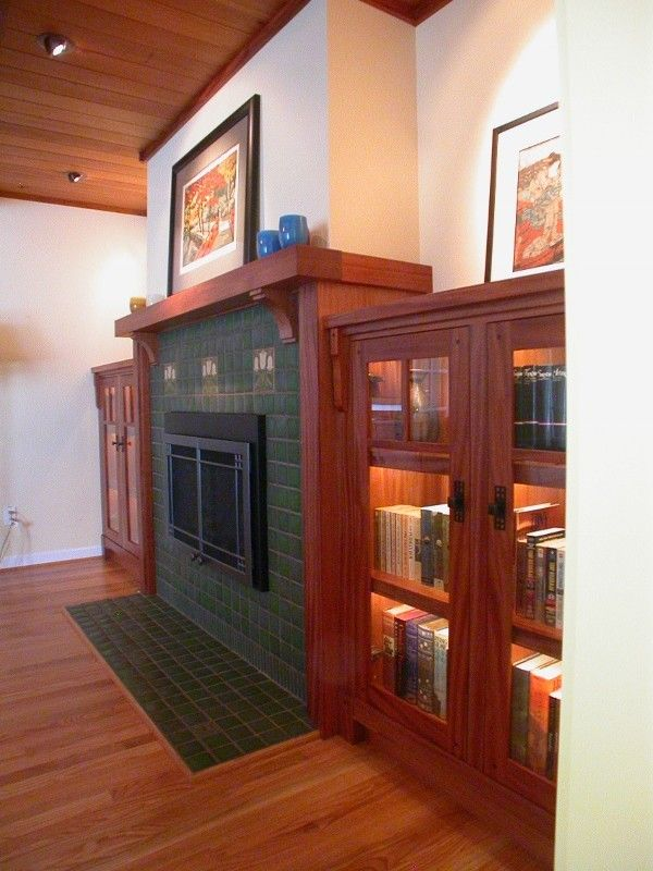 Best 25 craftsman fireplace mantels ideas on pinterest for Craftsman fireplace pictures
